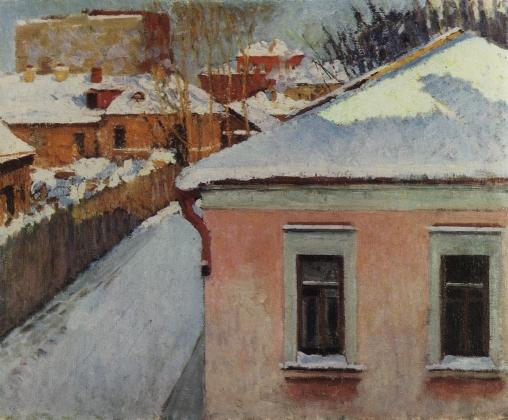 Игорь Грабарь. Уголок уходящей Москвы. 1930