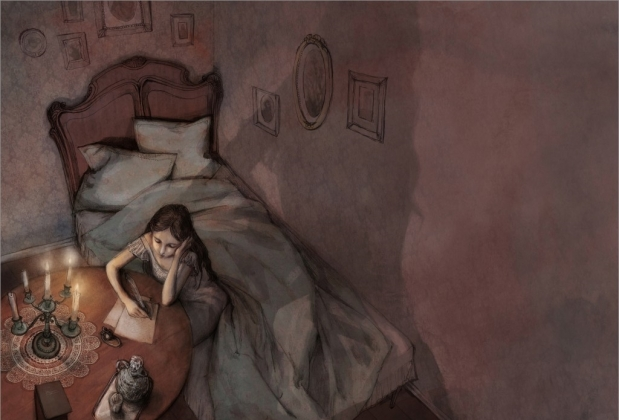 Иллюстрация к «Евгению Онегину» Письмо. Анна Севериновска, 2010