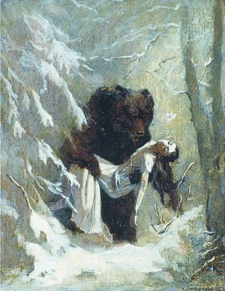 Иллюстрация к «Евгению Онегину» «Она бесчувственно-покорна, Не шевельнется, не вздохнет». Л.Тимошенко, 1951