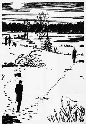 Иллюстрация к «Евгению Онегину» Дуэль. М.Добужинский, 1938