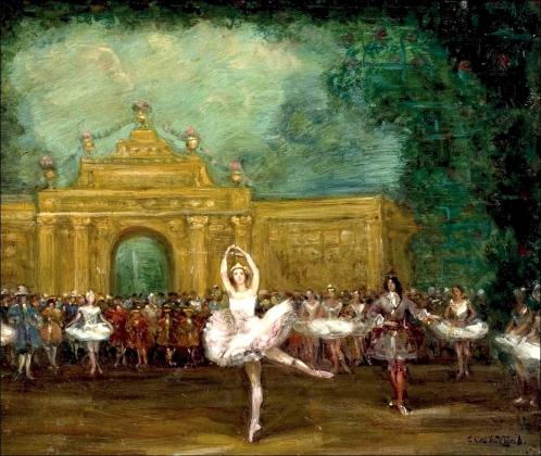 Сергей Судейкин. Русский балет (Павлова и Нижинский в «Павильоне Армиды'). 1907