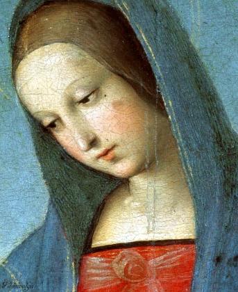 Рафаэль. Мадонна Конестабиле, фрагмент. 1502
