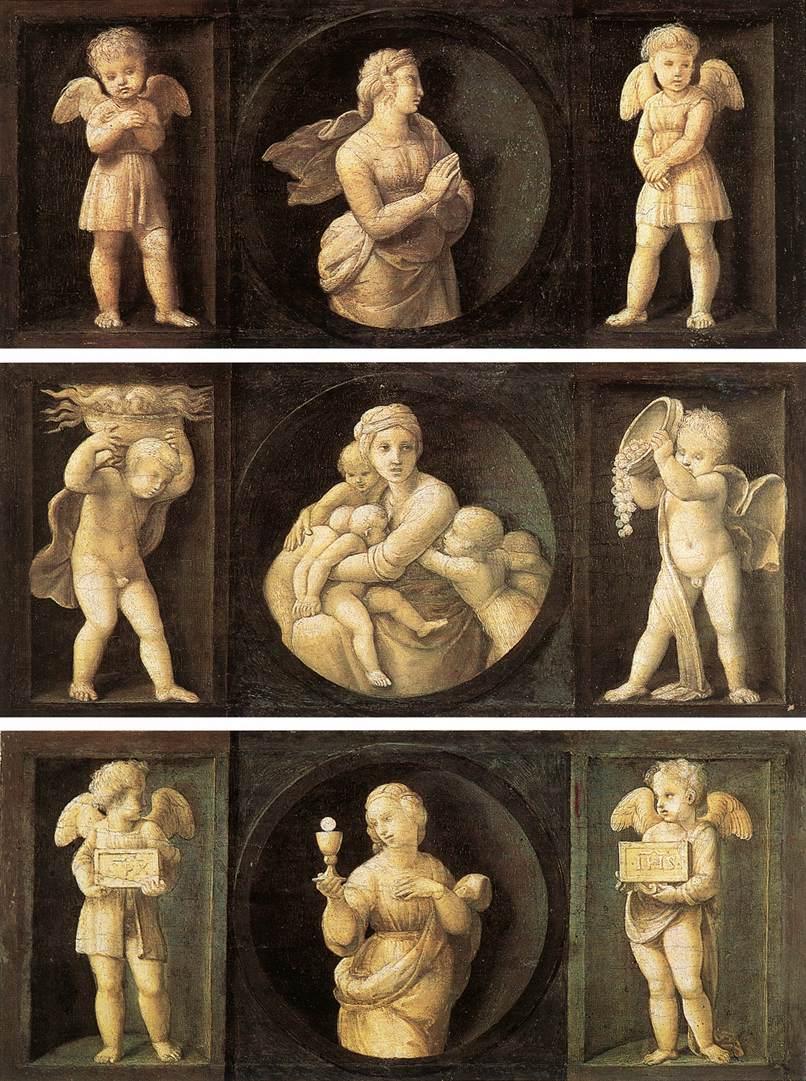 Рафаэль. Добродетели  теологии . 1507
