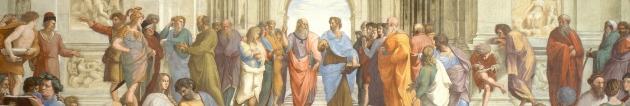 Рафаэль. Афинская школа (верхняя часть фрески). 1510-11