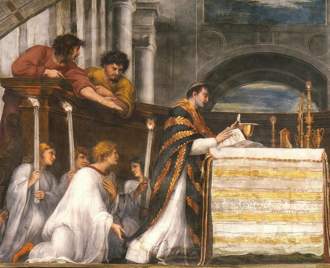 Рафаэль. Месса в Больсене (фрагмент 4). 1511-12