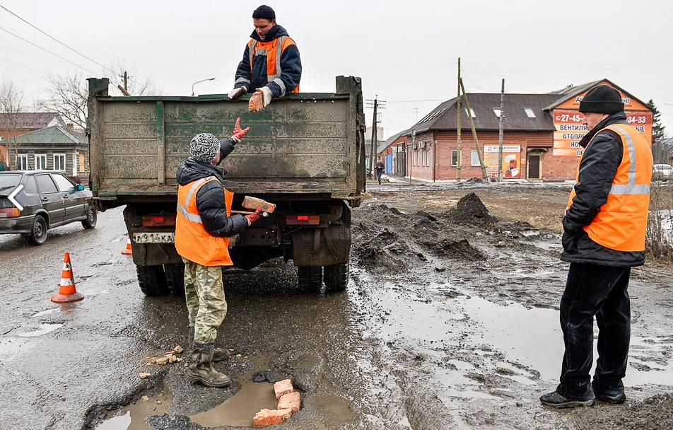 Ремонт дорог в Омске