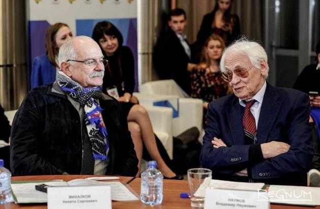 Никита Михалков и Владимир Наумов на Московском культурном форуме