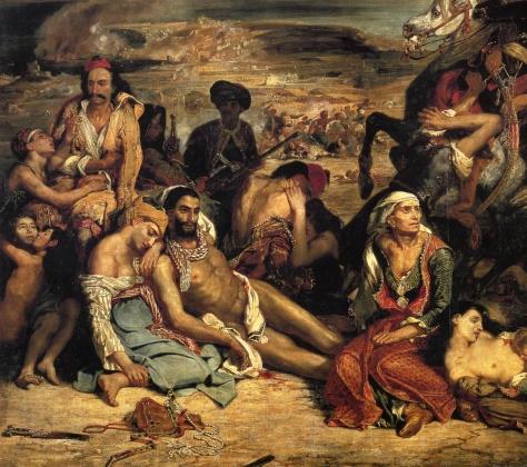 Эжен Делакруа. Резня на Хиосе. 1824