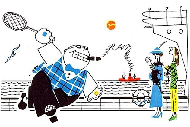 «Владелец заводов, газет, пароходов...». Иллюстрация к сатирической поэме Самуила Маршака «Мистер Твистер»