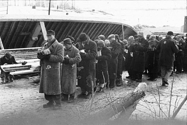 Евреи в концлагере Саласпилс. Латвия. Зима 1941/1942