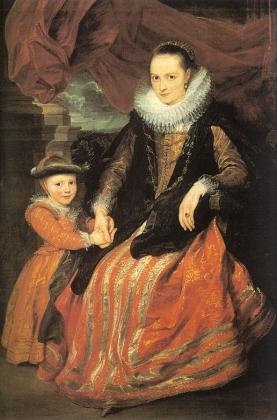 Антонис ван Дейк. Портрет Сюзанны Формент и ее дочери. 1620