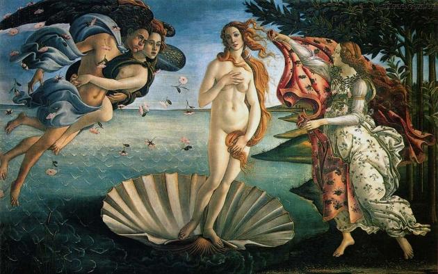 Сандро Боттичелли. Рождение Венеры. 1482–1486