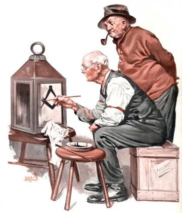 Сэм Браун. Рисунок с обложки журнала «Masonic News». 1927