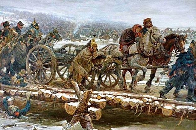 Ян Хойнк ван Папендрехт. Переправа через Березину в 1812 году
