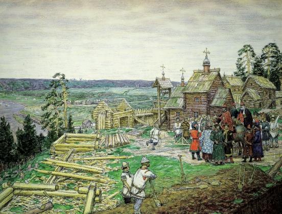 Аполлинарий Васнецов. Основание Кремля