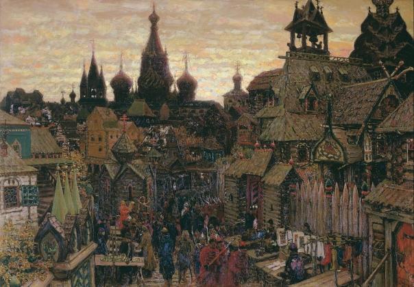 Аполлинарий Васнецов. Старая Москва. Улица в Китай-городе начала XVII века. 1903