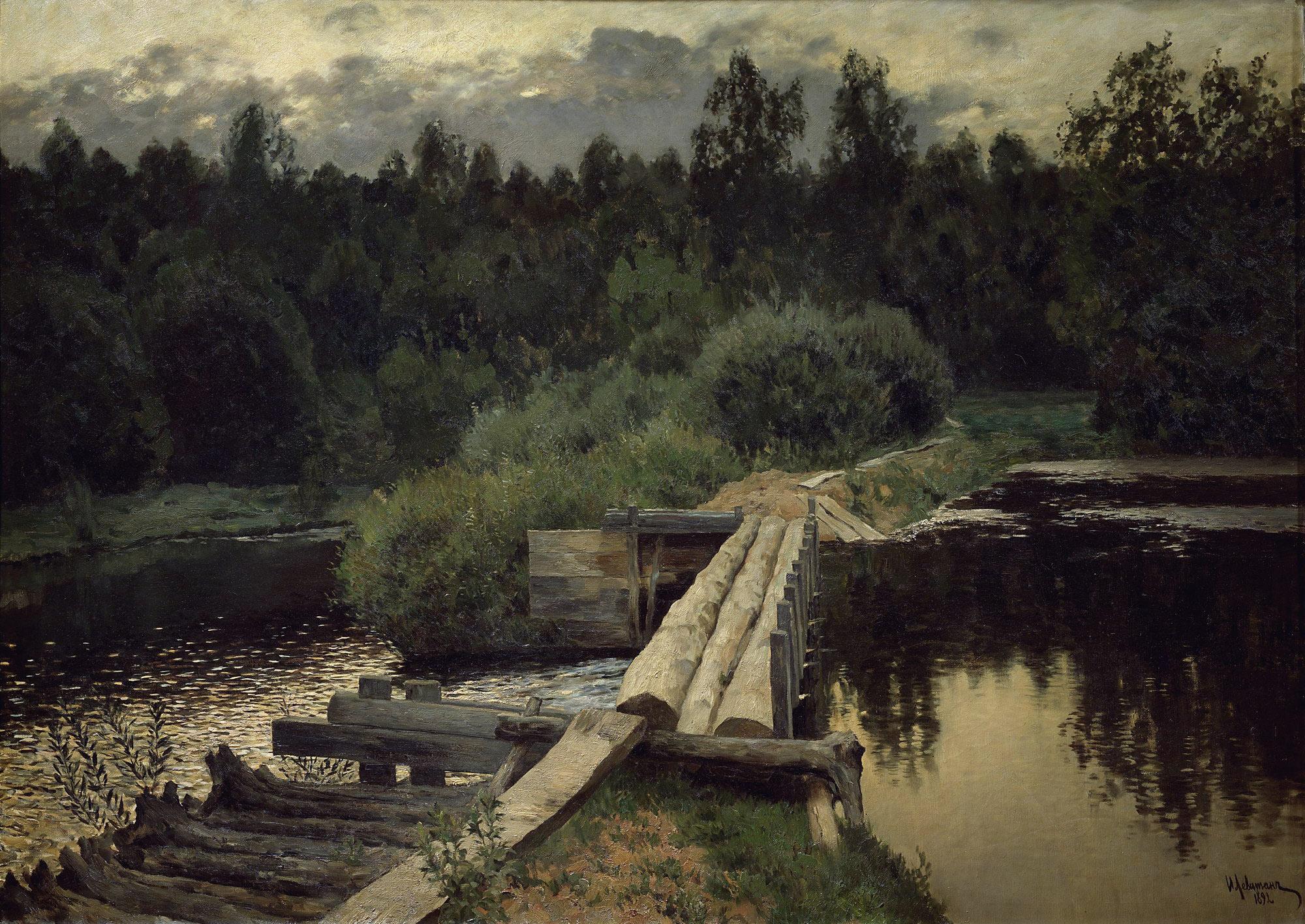 Мельница река мостик  № 2785840 без смс