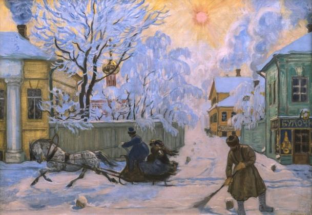 Борис Кустодиев. Морозный день. 1913