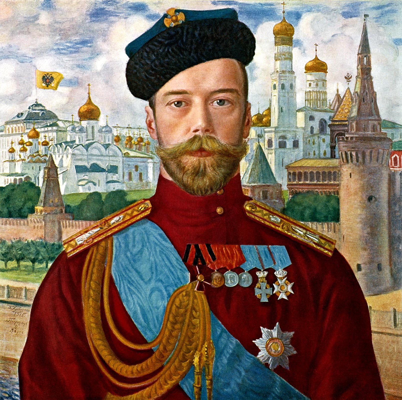 Борис Кустодиев. Его императорское величество государь император Николай Александрович Самодержец Всероссийский. 1915