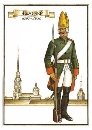 Фузилер Екатеринославского кирасирского полка. 1797-1801