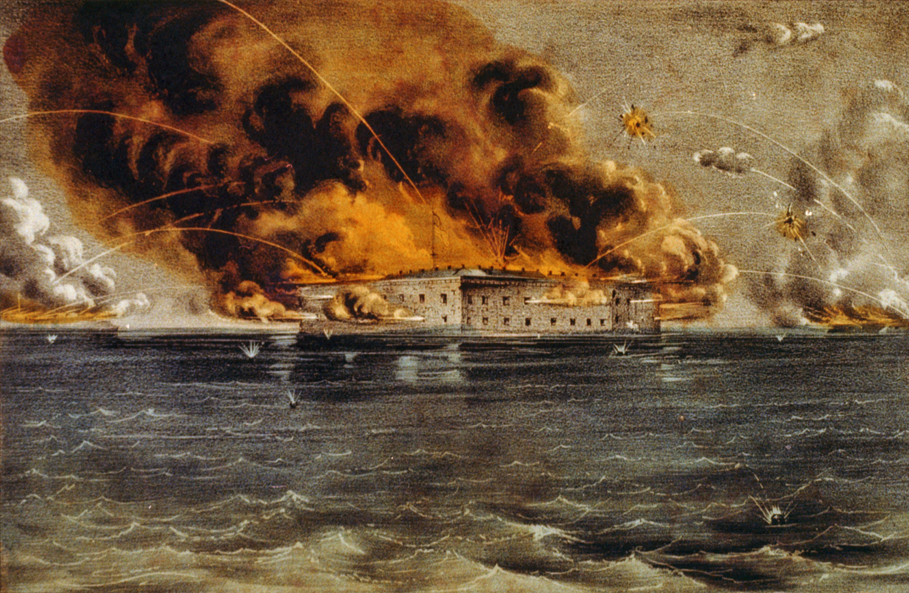 Форт Самтер под огнем. 13 апреля 1861 года. 1861