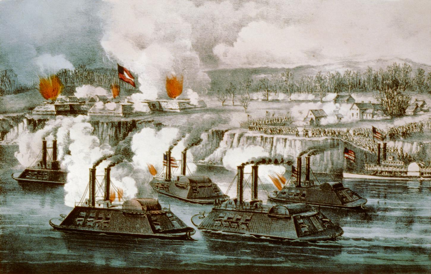 Битва за форт Хиндман 11 января 1863 года. 1863