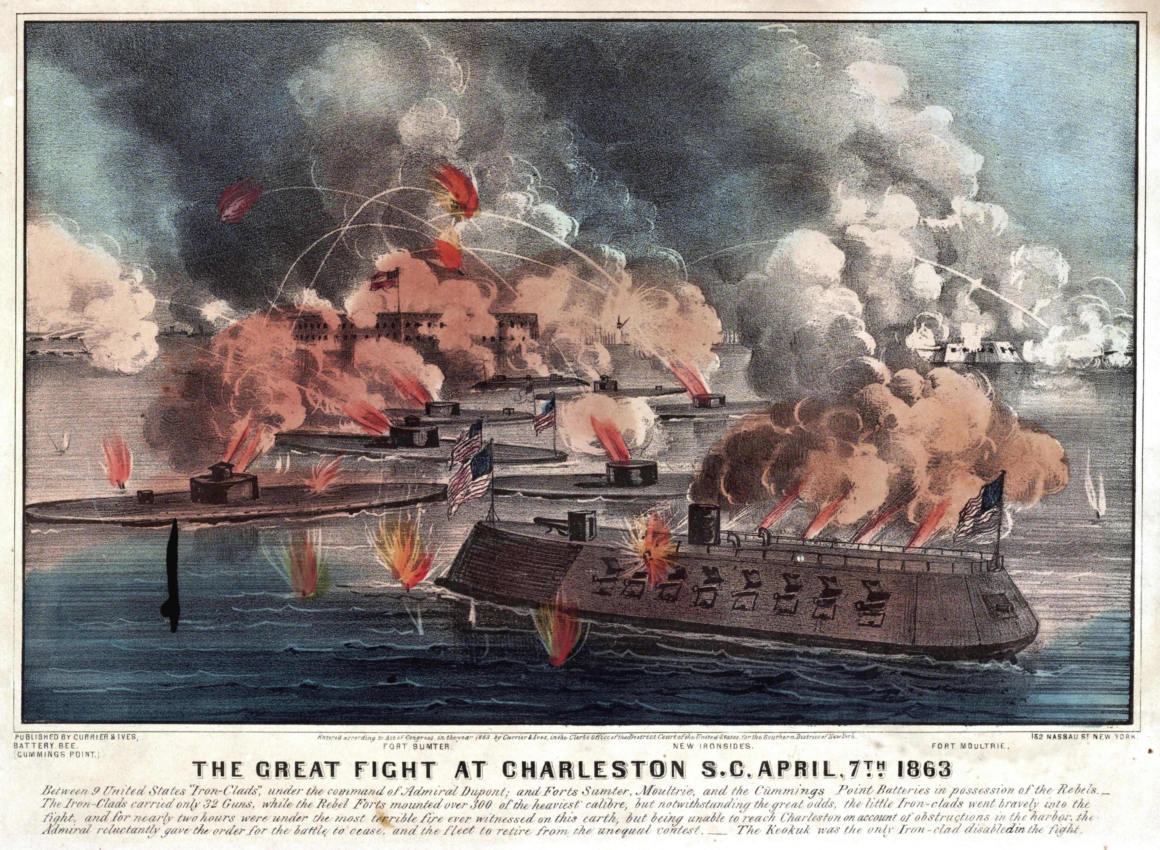 Великий бой в Чарльстоне 7 апреля 1863 года. 1863