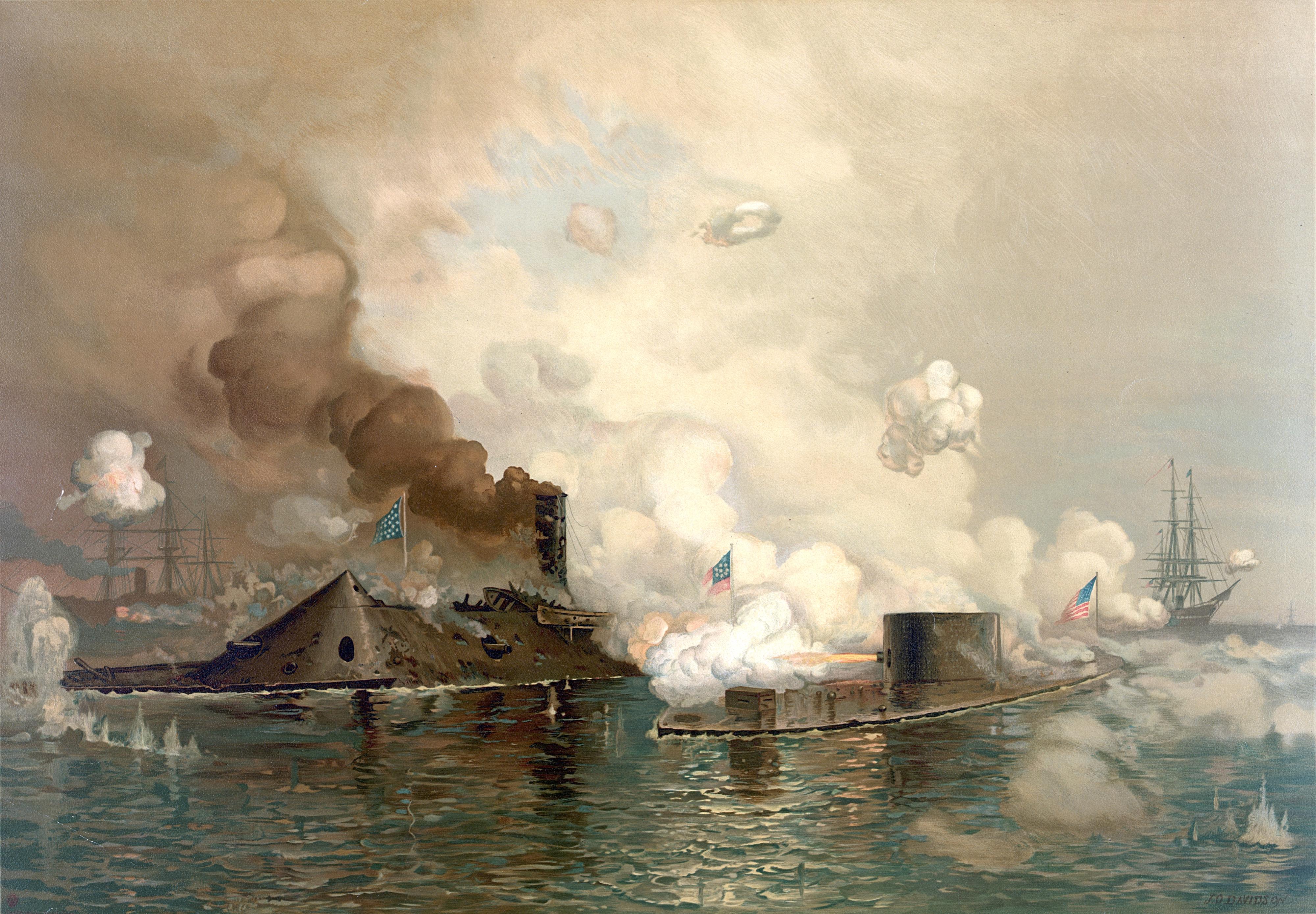 Джулиан Дэвидсон. «Монитор» против «Мэрримака». 1863