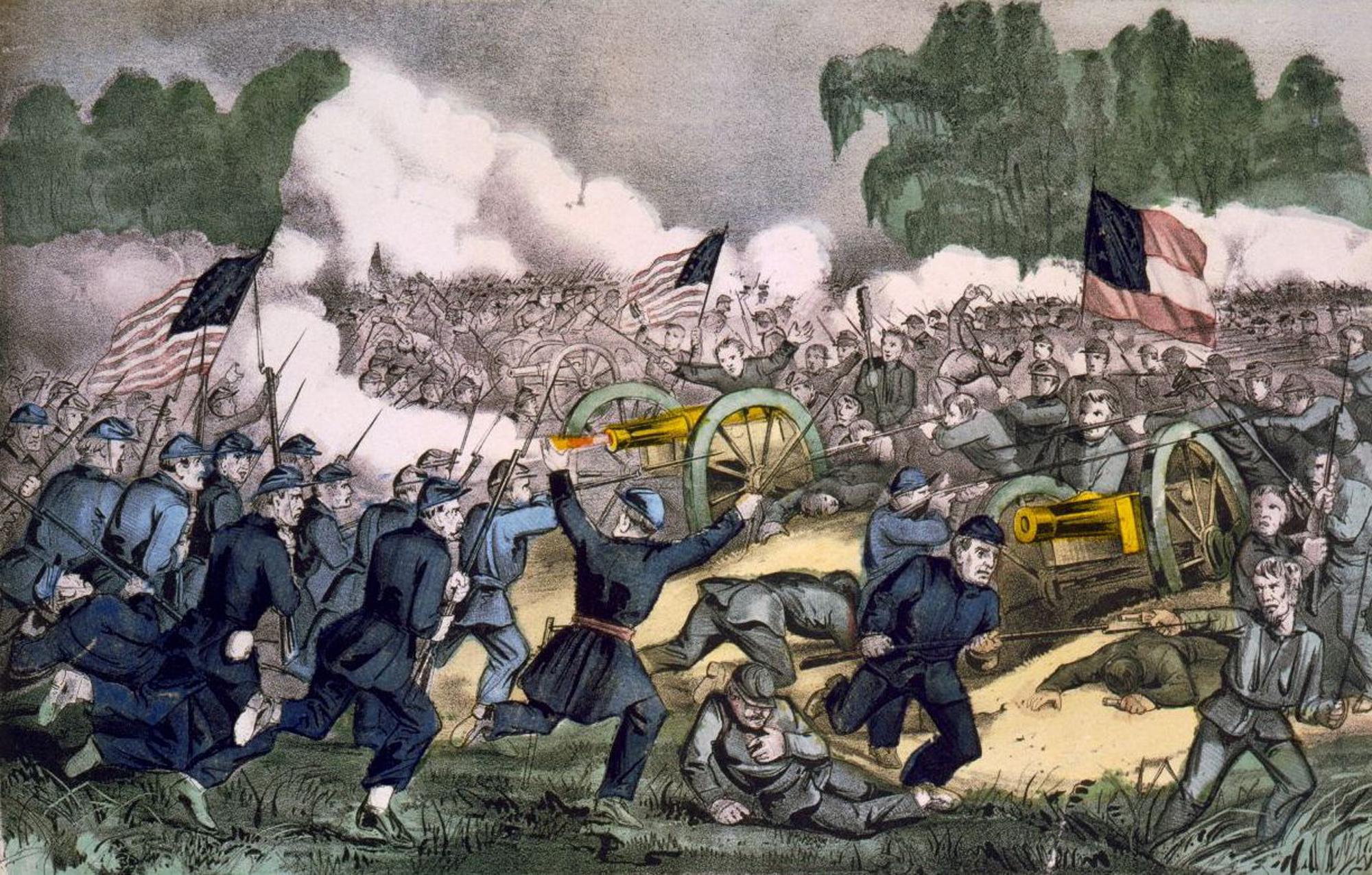 Сражение при Геттсберге 3 июля 1863 года. 1863