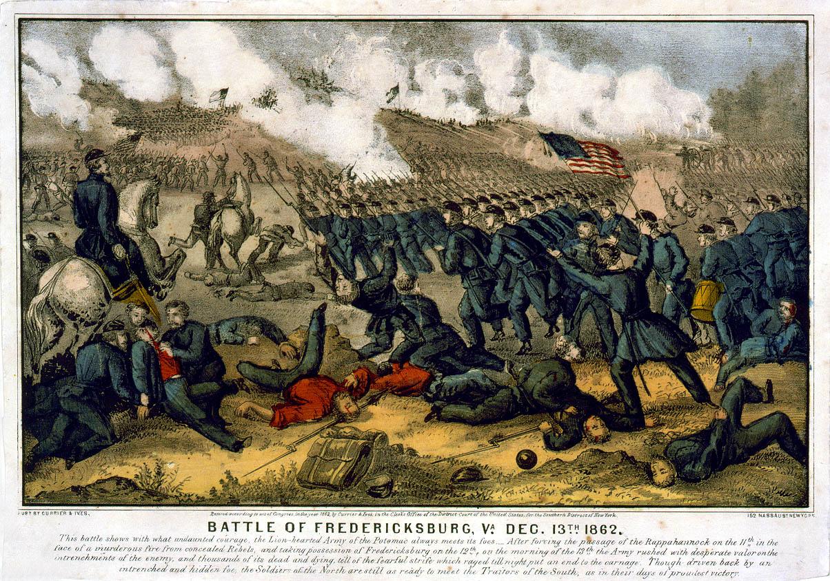 Сражение при Фредериксбурге 13 декабря 1862 года. 1863