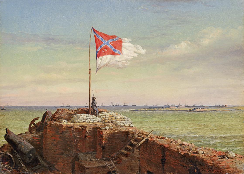 Конрад Чапман. Флаг над фортом Самтер, 20 октября 1863 года. 1864