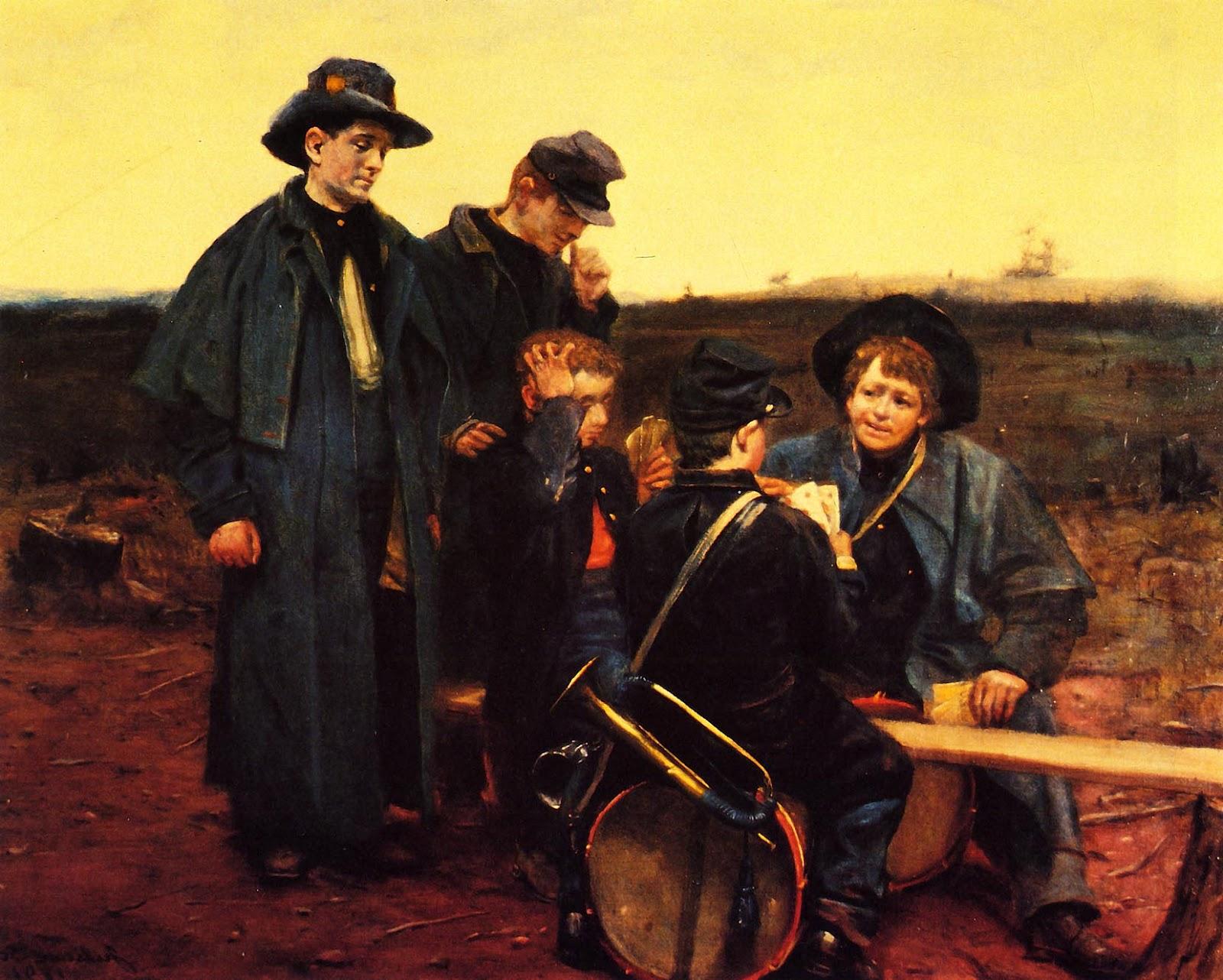 Джулиан Скотт. Барабанщики играют в карты. 1891
