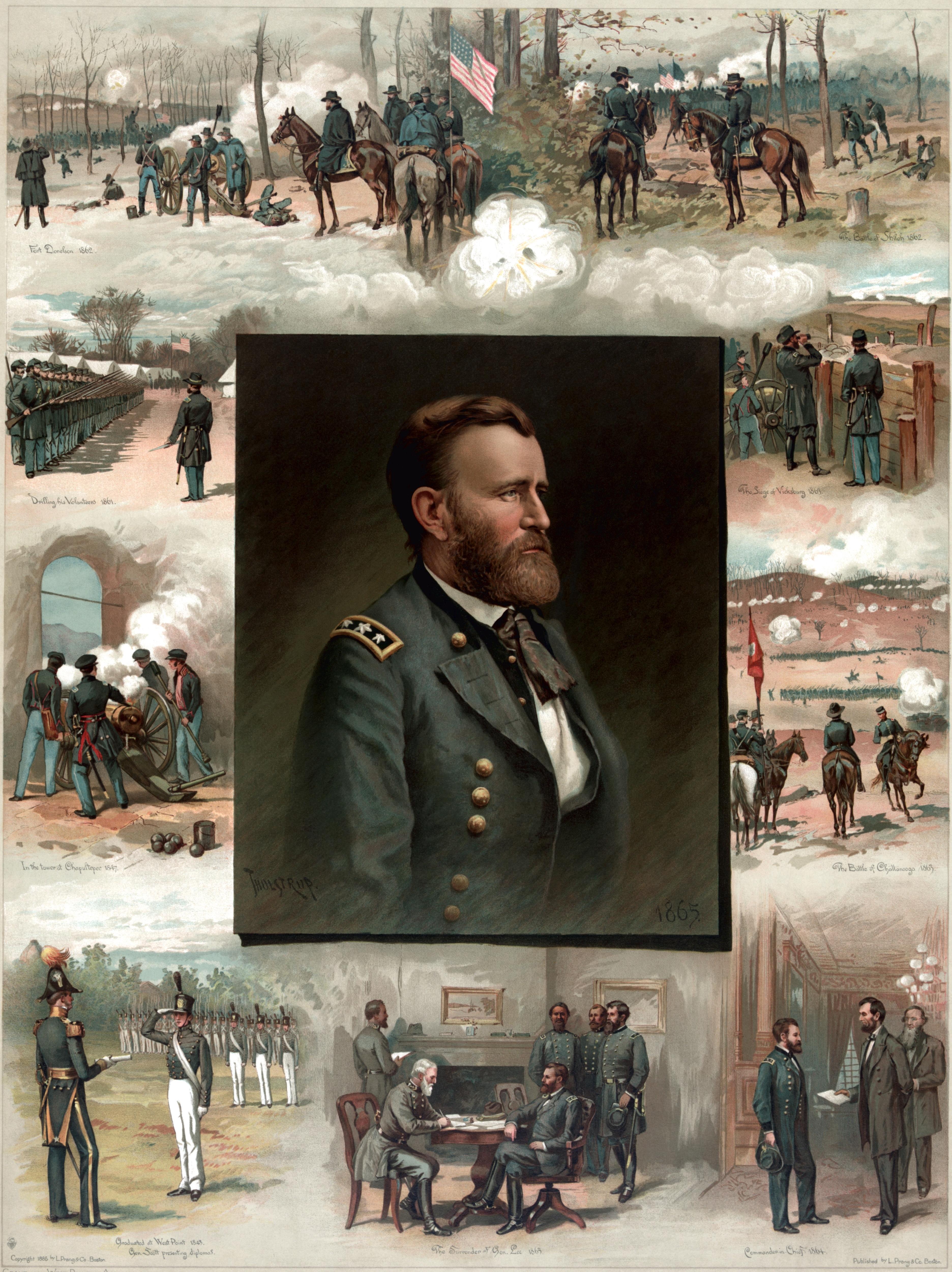 Тур де Тулструп. Улисс Грант от Вест-Пойнта до Аппоматокса. 1885