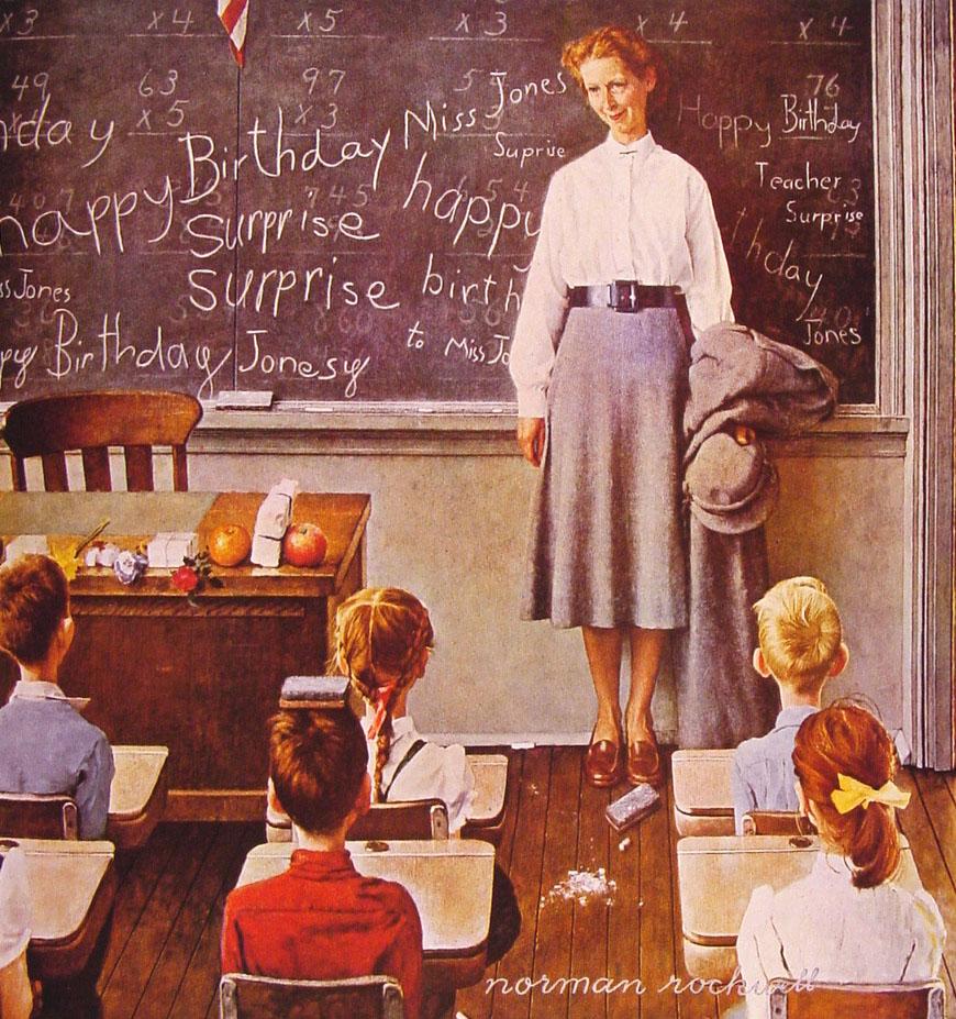 Ретро картинки день учителя