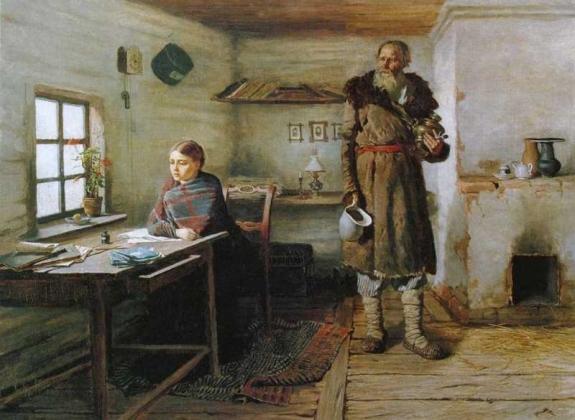 Константин Трутовский. Сельская учительница. 1883