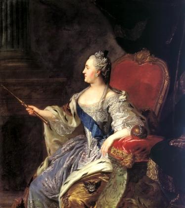 Федор Рокотов. Коронационный портрет Екатерины II. 1762