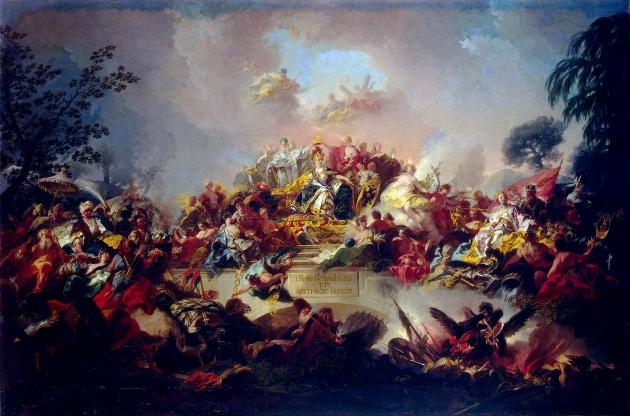 Грегорио Гульельми. Апофеоз царствования Екатерины Великой. 1767
