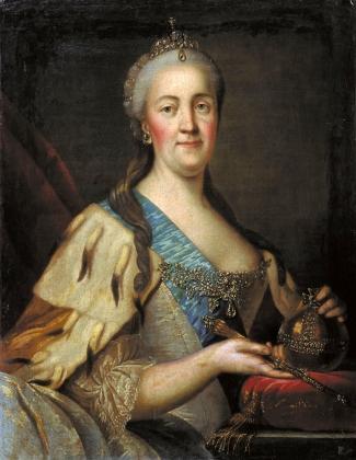 Иван Саблуков. Портрет Екатрины II. 1770