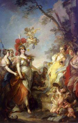 Стефано Торелли. Екатерина II в образе Минервы, покровительницы искусств. 1770
