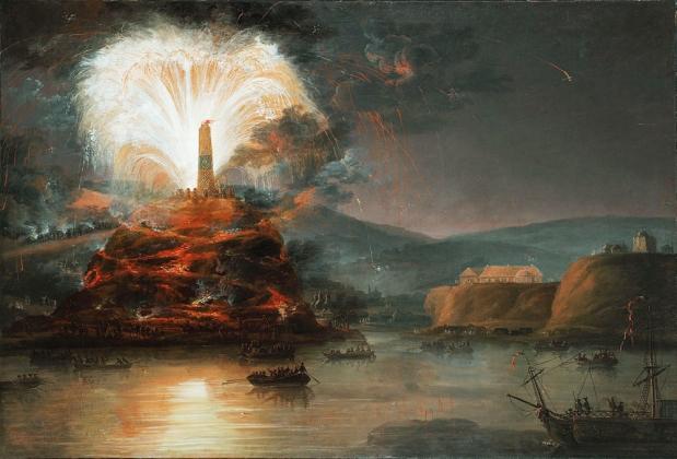 Ян Плерщ. Фейерверки в честь Екатерины II в 1787 году. 1787