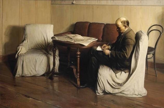 �саак Бродский. В.�. Ленин в Смольном в 1917 году. 1930