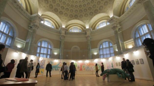 Выставка Георгия Литичевского Opus comicum в Центре искусства библиотеки имени Маяковского