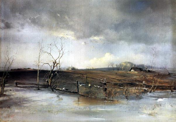 Весна. Огороды. Алексей Саврасов. 1893
