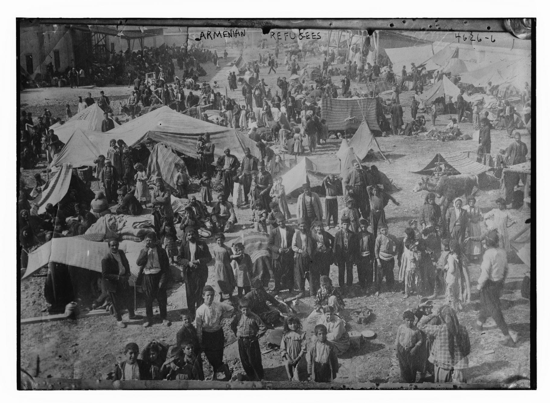 Армянские беженцы в Сирии. 1916