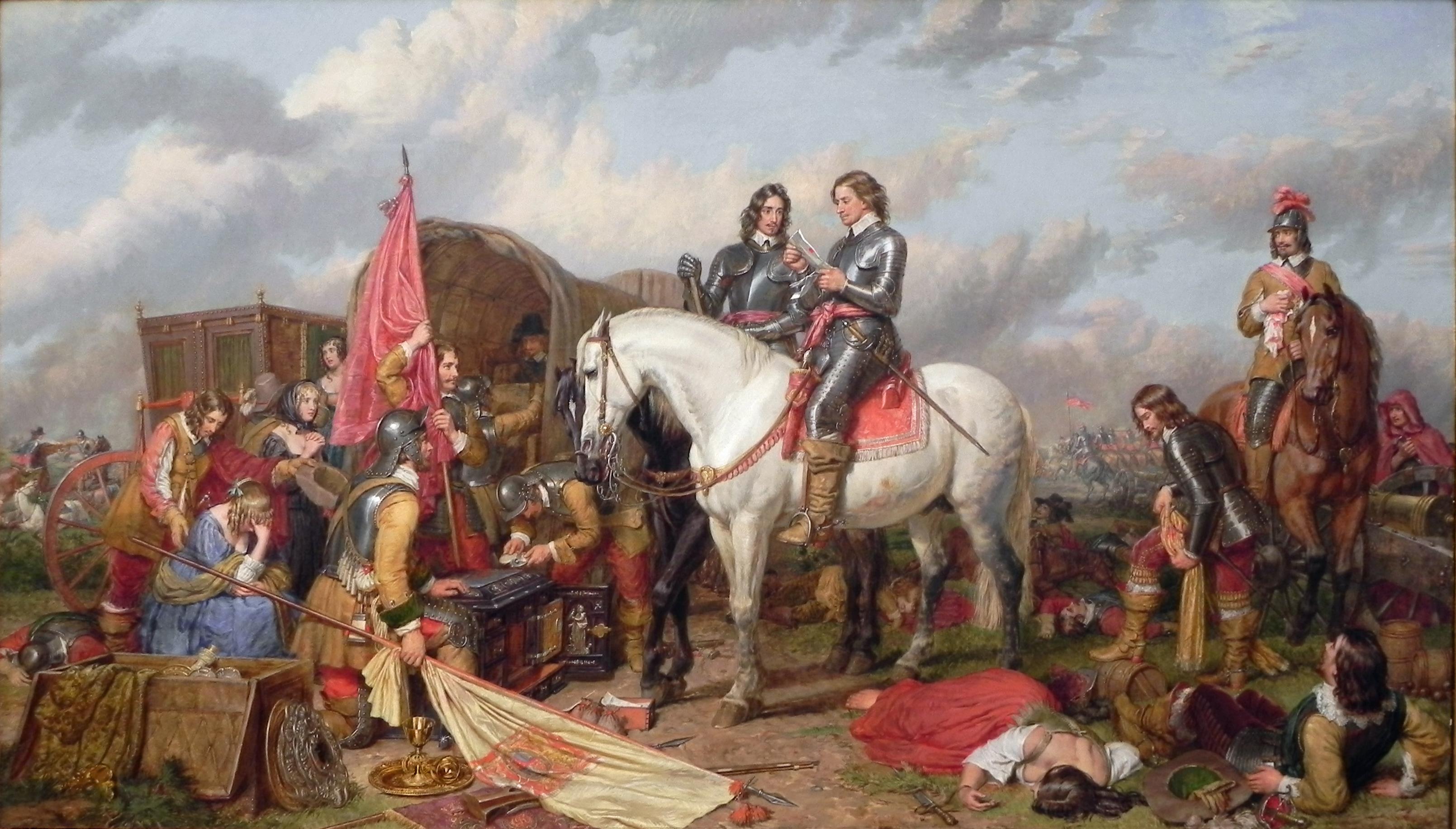 Чарльз Ландсир. Кромвель в сражении у Нейзби в 1645 году. 1851