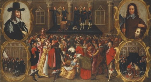 Неизвестный художник. Казнь Карла I. 1649