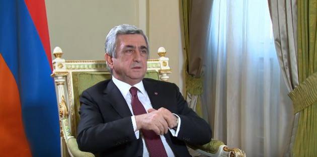 Серж Саргсян не видит возможности для ввода миротворцев в Карабах