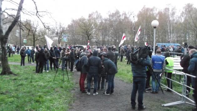 Акция оппозиции «Чернобыльский путь» в Минске завершилась коротким митингом