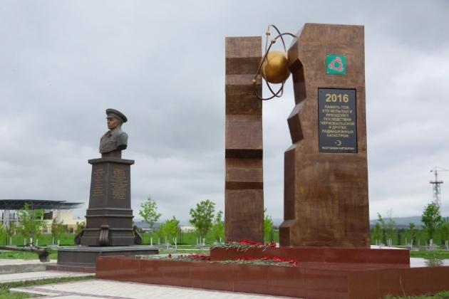 В Ингушетии открыли памятник героям-чернобыльцам