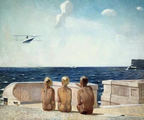 Будущие летчики. Александр Дейнека. 1938